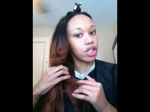 how to revive your synthetic weave! flatiron it while its WET!!! big money saver part 1