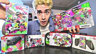 ULTIMATE Splatoon 2 Unboxing!! [ALL 3 Amiibo, Pro Controller, Cases, Joycon Grip!]
