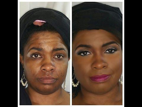 How To Cover Dark Spots Acne Scars on Dark Skin | Makeup for Dark Skin
