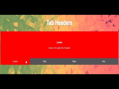 Css Tab Header, Web Design Tabs, Website Tabs Design, Tab Navigation Examples