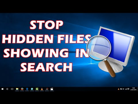 Stop Hidden Files Showing Up in Search Results | Windows 10 Tips and Tricks