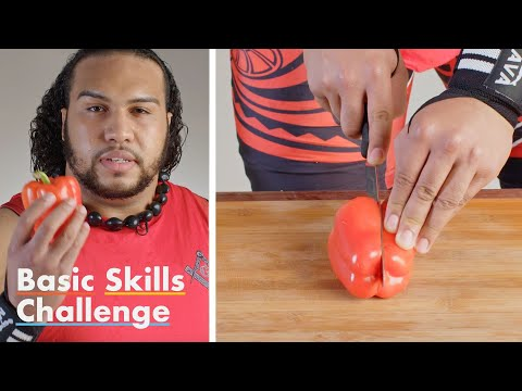 50 People Try to Slice a Pepper | Epicurious