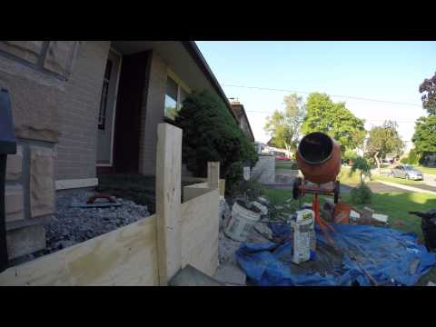 pouring concrete porch