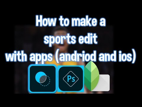 How to make a sports edit with FREE apps (Andriod and ios)