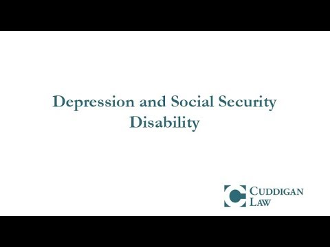 Depression and Social Security Disability