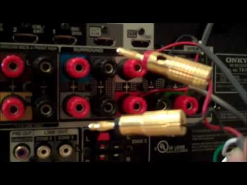 How to make surround sound speaker wire connections to a home theater receiver
