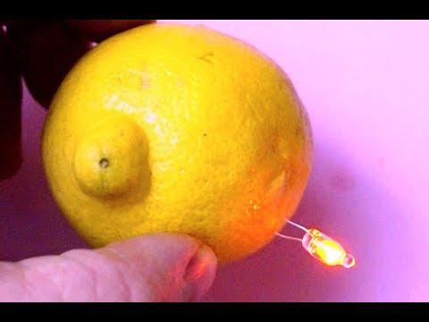 Free energy electricity generator using Lemon. Self running light Bulb 2018