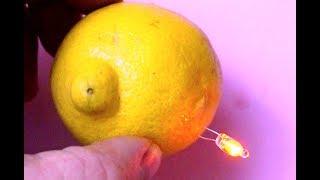 Life Hack how to use One Lemon to light a Led Bulb