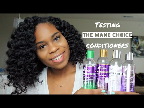 Testing out THE MANE CHOICE conditioners!