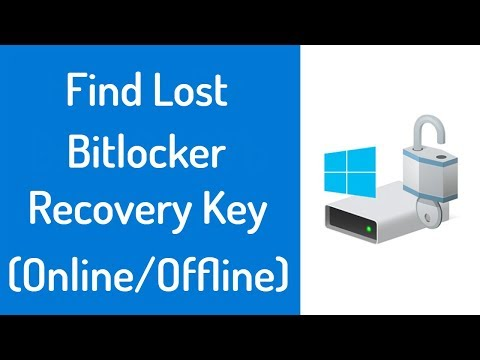 How To Find Lost Bitlocker Recovery Key 2018