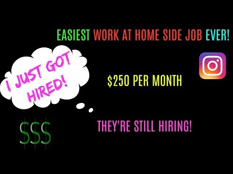 I Just GOT HIRED To RATE ADS On INSTAGRAM | $250 PER MONTH (WORK AT HOME) STILL HIRING!
