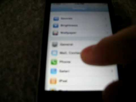 How to put contacts on iphone 3g