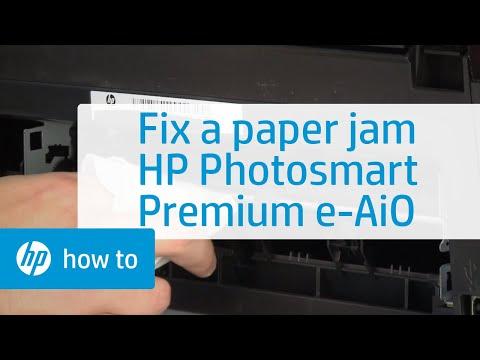 Fixing a Paper Jam - HP Photosmart Premium e-All-in-One Printer (C310a)