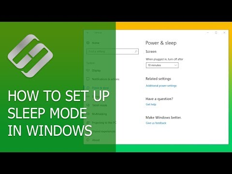 How to Enable, Disable and Setup Sleep Mode in Windows 10, 8 or 7 💻 💤 ⏰