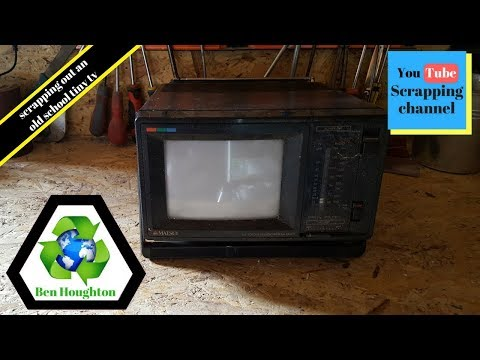 ♻️ Scrapping out a tiny tv to determine its value