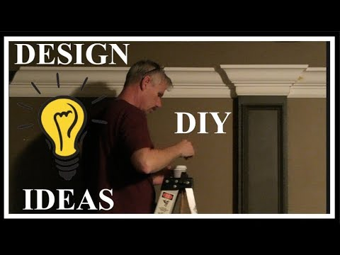HOME DECOR- THEATER ROOM DESIGN DIY PART 2- CROWN & CHAIR RAIL MOLDING