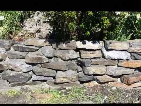 How to build rock garden wall