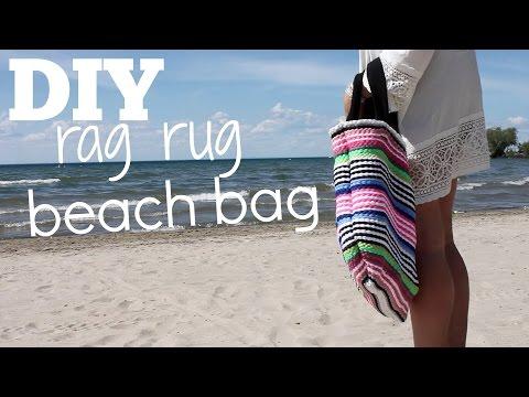 DIY Rag Rug Beach Bag