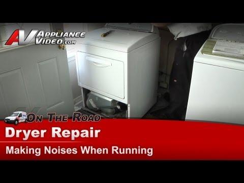 Whirlpool, KitchenAid, Maytag & Roper dryer Repair - Making noises when running - WED5500XW0