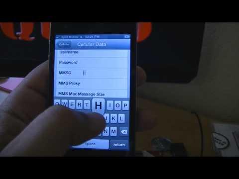 Spot Mobile Iphone internet, MMS, and  APN settings