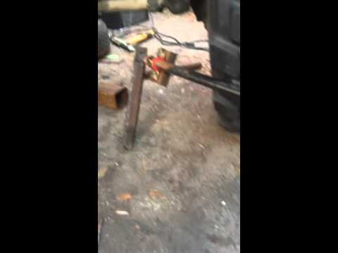 Sway bar homemade 5 ton Rockwell axles diy off-road sway bar using Chevy torsion bar