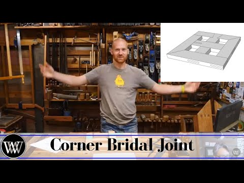 How to make a Corner Bridal Joint with Hand Tools Live