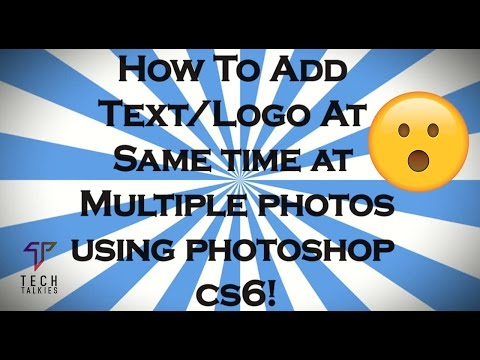 How To Add Watermark/Logo at Multiple Photos Using Photoshop CS6/CC (Latest Trick)