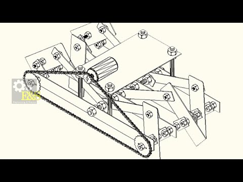 Six leg kinematic moving machine Auto CAD Design (Mechanical Engineering Project)