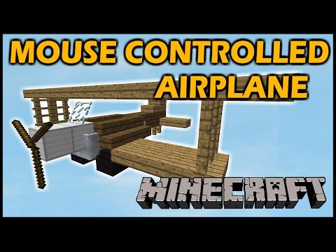 [1.8 Vanilla Minecraft] Mouse controlled AIRPLANE!