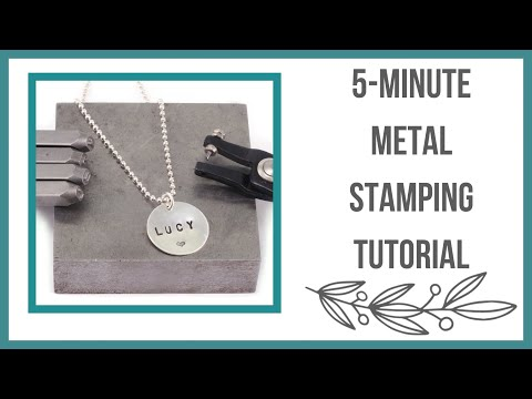5 - Minute Metal Stamping Tutorial, How to Stamp on Metal - Beaducation.com