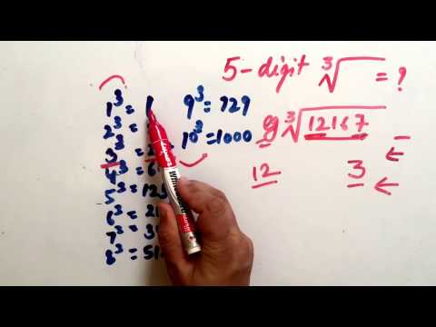 CUBE ROOT of 5 digit number