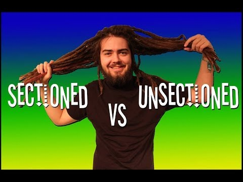 SECTIONED VS UNSECTION DREADLOCKS!