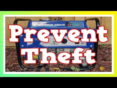 How To Prevent Portable Generator Theft