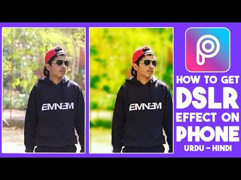 DSLR Look on Android & iPhone Urdu Hindi   Picsart Editing Tutorials HD