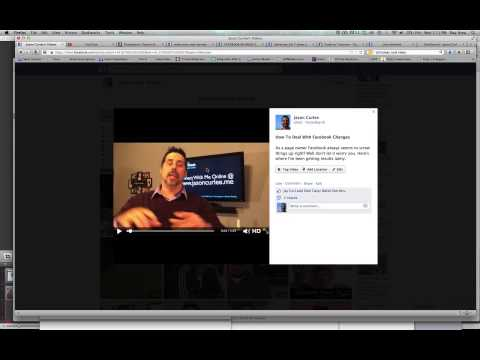 How To Change A Facebook Video Thumbnail Tutorial