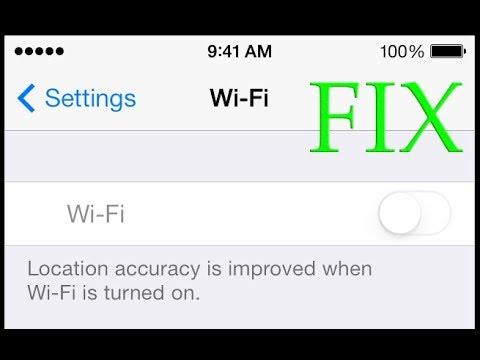 iPhone Wi-Fi Won't Turn On.