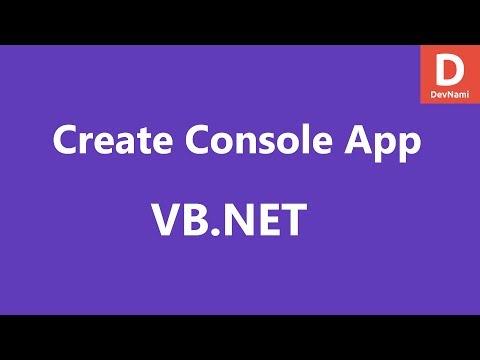 VB.Net Create Console Project in Visual Studio