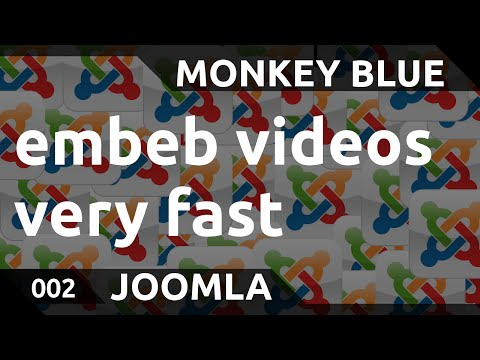 Joomla: how to embeb local videos very easily with the HTML5 video tag
