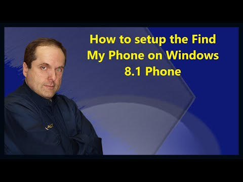 How to setup the Find My Phone on Windows 8.1 Phone