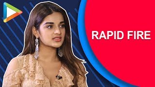 Tiger Shroff ya Varun Dhawan – Nidhhi Agerwal's AWESOME rapid fire | K.L.Rahul | Sanju | Padmaavat
