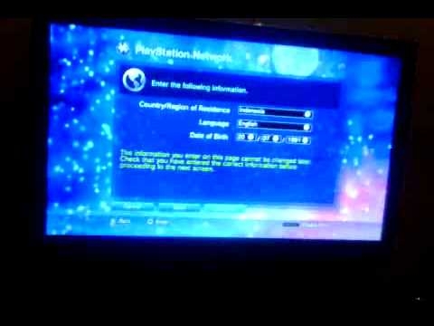 HELP!! Problem signing up playstation network