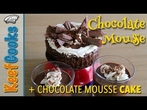 Best Chocolate Mousse - Chocolate Mousse Cake Recipe - Chantilly Cream - Chocolate Curls