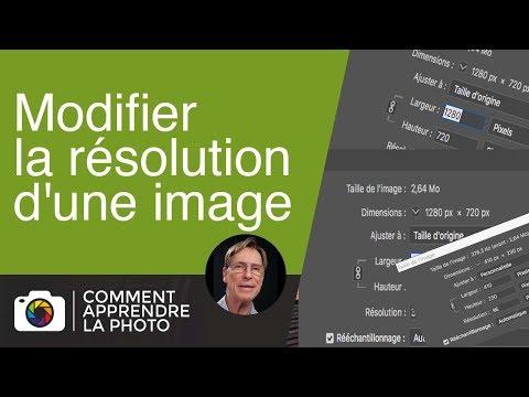 Modifier la résolution d'une image