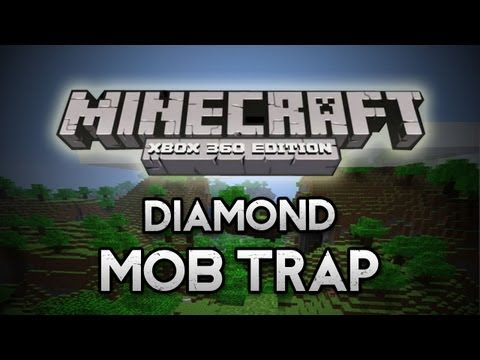 Minecraft: Xbox 360 - Mob Trap made COMPLETELY out of DIAMOND BLOCK