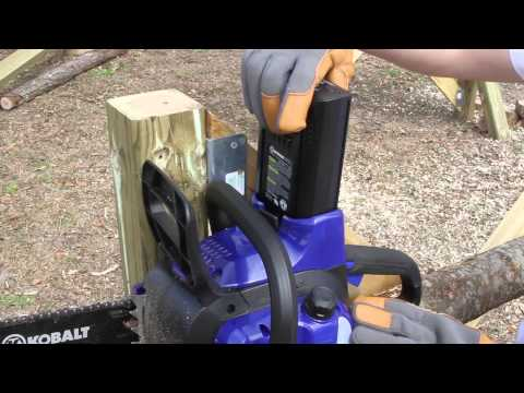 2014 KOBALT Outdoor Tool Experience: 40V MAX Chain Saw