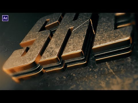 Epic 3D Text Animation | After Effects Tutorial | Element 3D