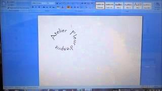 creer un logo rond avec word