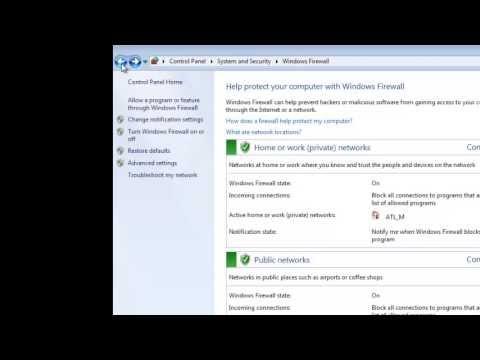 windows 7 firewall tutorial part 1