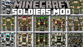 Minecraft SOLDIERS MOD / FIGHTING AGAINST MARK THE NOOB WITH SOLDIER BATTLES!! Minecraft