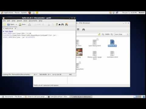 Call a Java Jar Program in Linux CentOS Shell Script 6 5 2014 2 59 48 PM